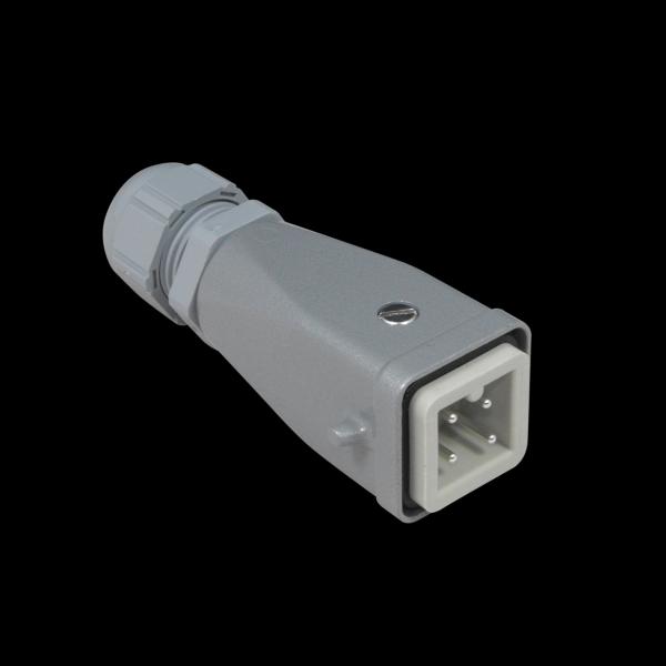 Metal 4 Pin Harting Plug